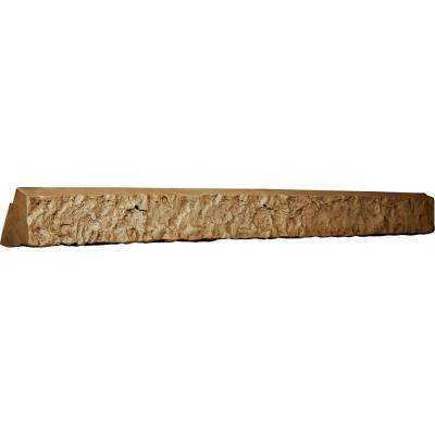 3 in. x 48-1/4 in. x 3-3/4 in. Saturn Urethane Universal Ledger for Stone and Rock Wall Panels