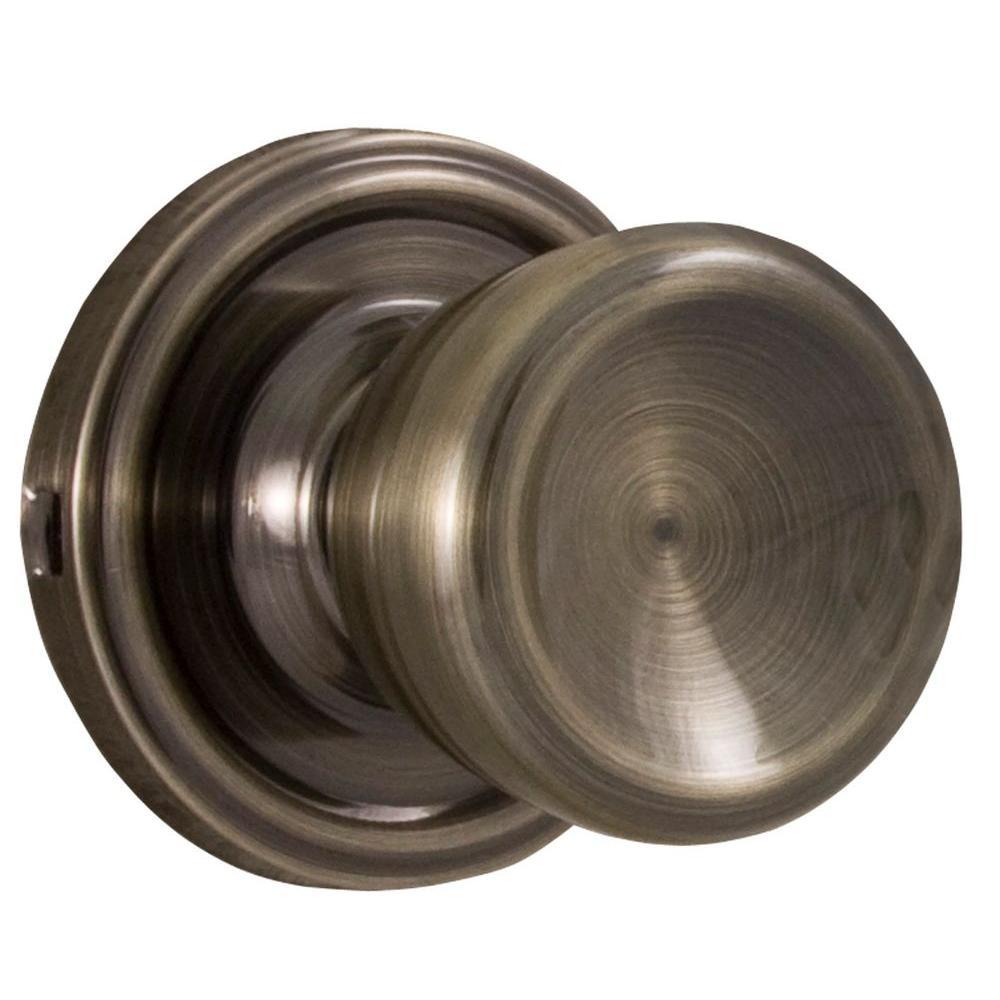 Essentials Antique Brass Passage Sonic Knob