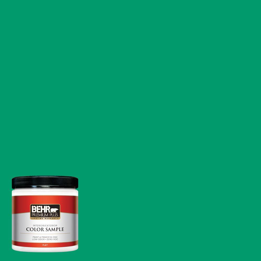 8 oz. #S-G-460 Mint Sprig Interior/Exterior Paint Sample