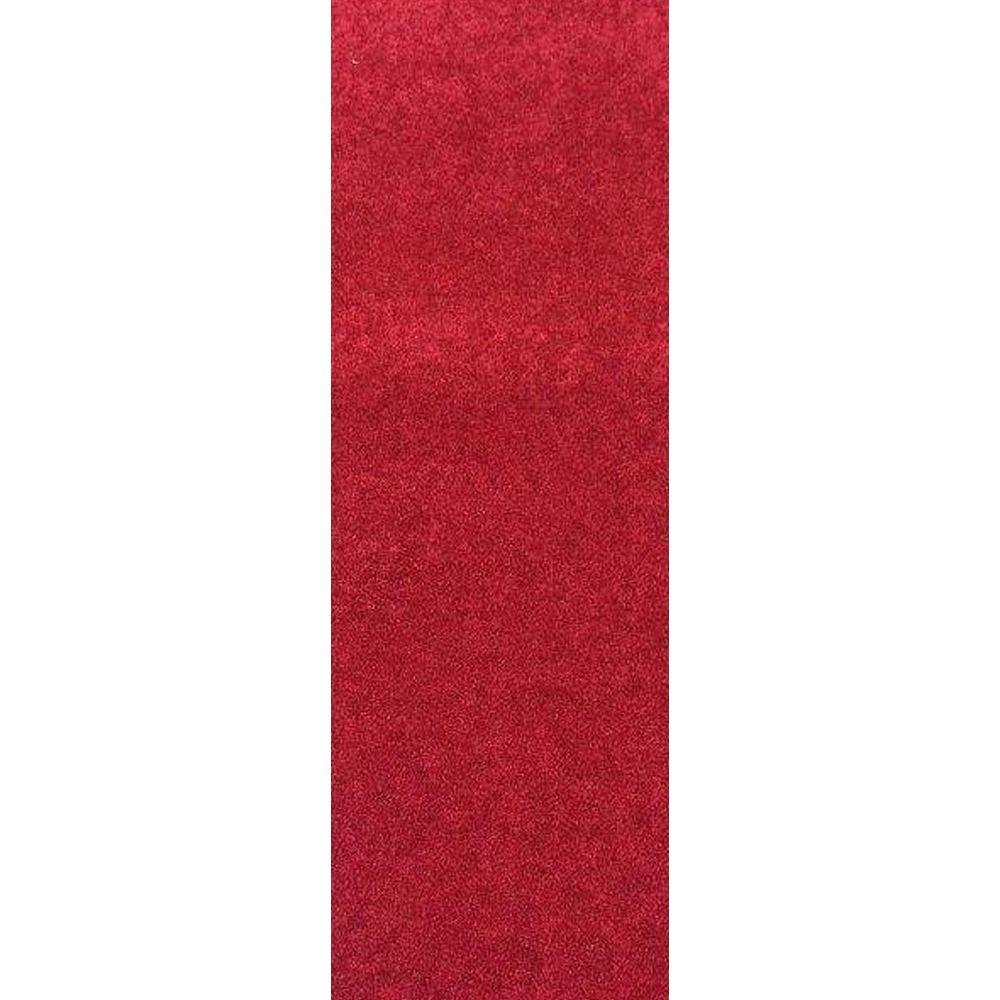 Nance Industries OurSpace Red 2 ft. x 6 ft. Bright Runner Rug
