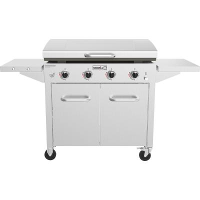 4-Burner Propane Gas Grill in Stainless Steel with Griddle Top