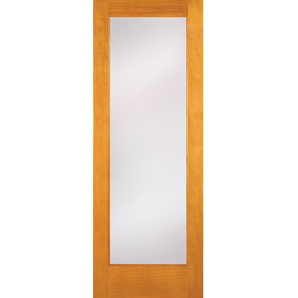 Feather River Doors 30 in. x 80 in. 1 Lite Unfinished Pine Privacy ...