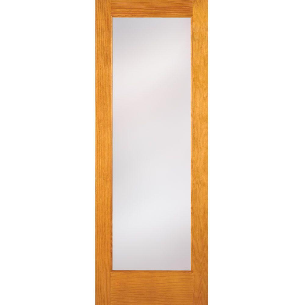 Privacy Woodgrain 1 Lite Unfinished Cherry Interior Door Slab