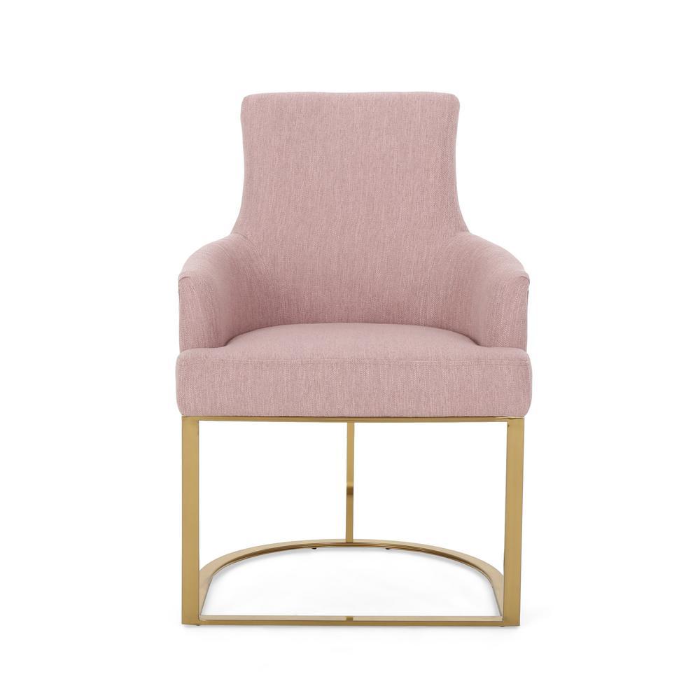 Gloria Light Blush Fabric Accent Chair