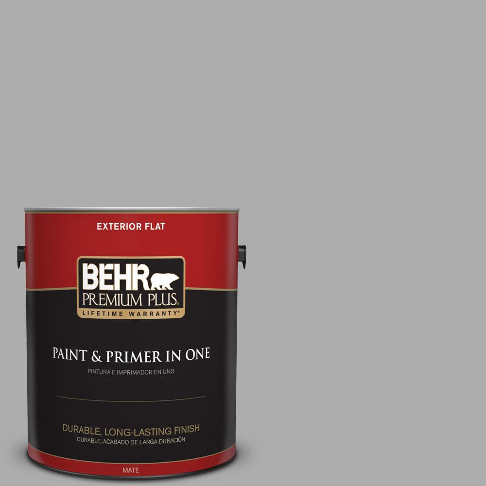 Home Depot Exterior Paint Behr Premium Plus 1Gal#n5203 Flannel Gray Flat Exterior Paint .