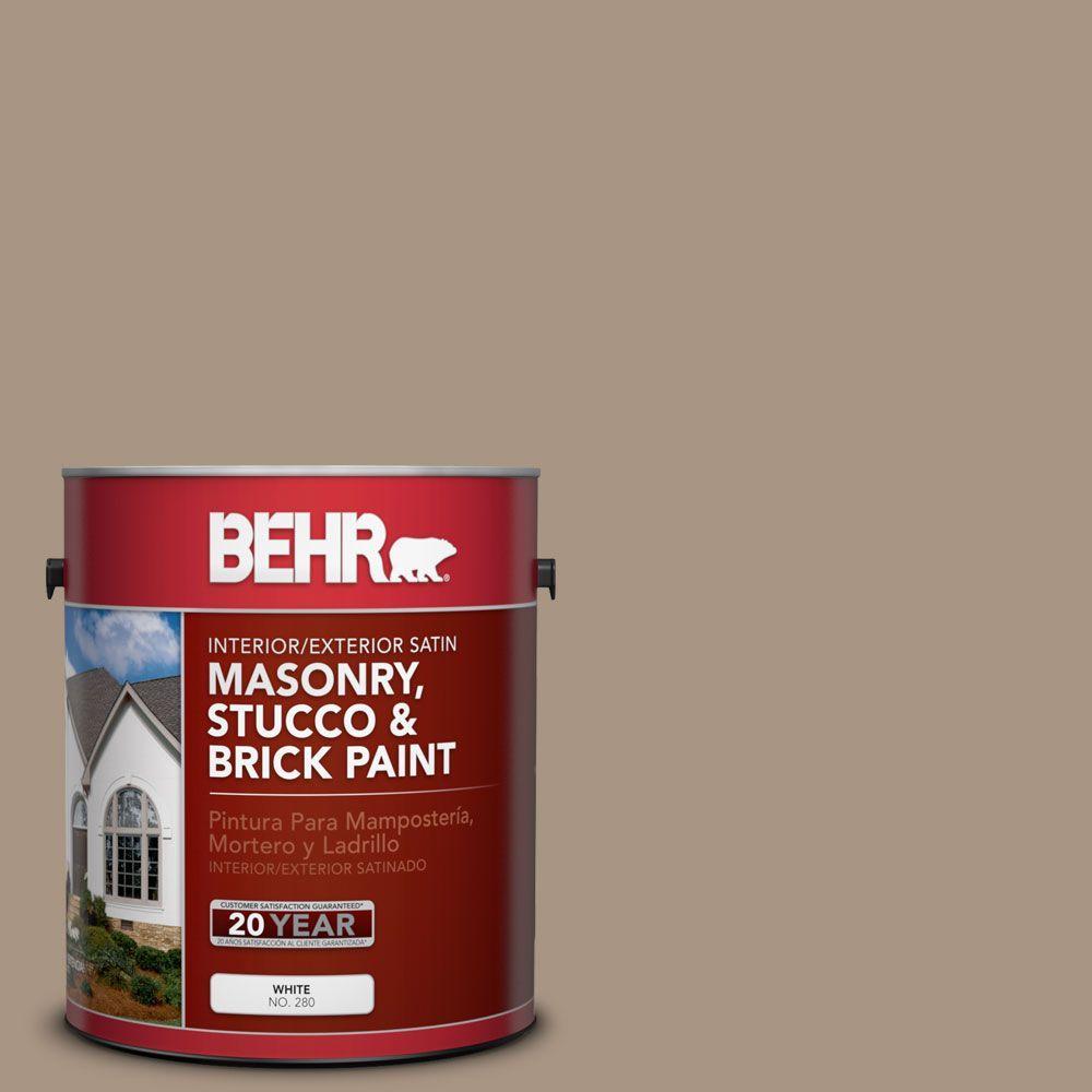1 gal. #MS-24 River Stone Satin Interior/Exterior Masonry, Stucco and Brick Paint