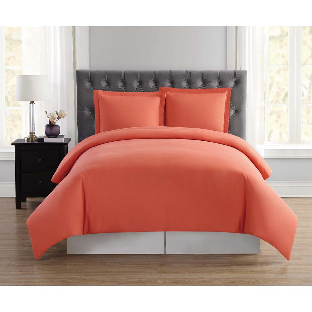 Everyday 3-Piece Orange Full/Queen Duvet Cover Set