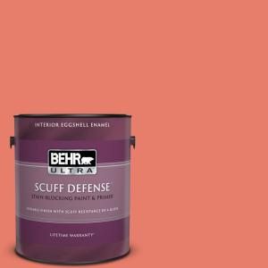 Behr Ultra 1 Gal Home Decorators Collection Hdc Sm14 12 Cosmic Coral Extra Durable Eggshell Enamel Interior Paint Primer 275301 The Home Depot