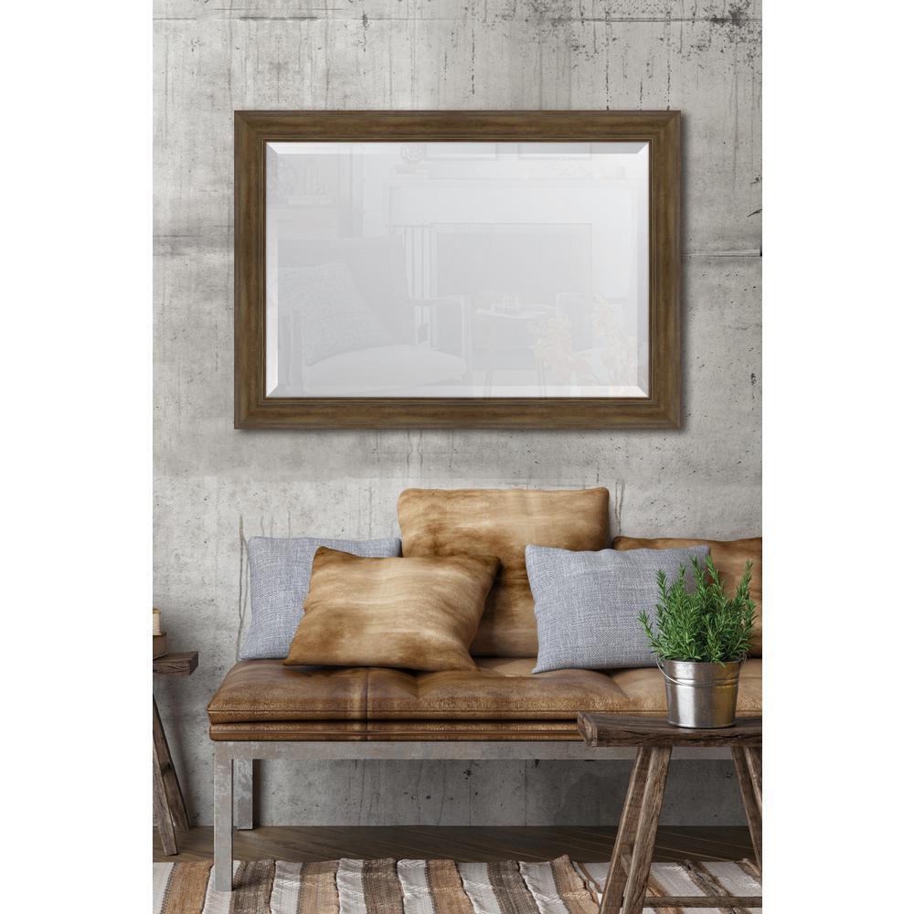 30 in. x 42 in. Walnut English Pine Resin Frame Mirror