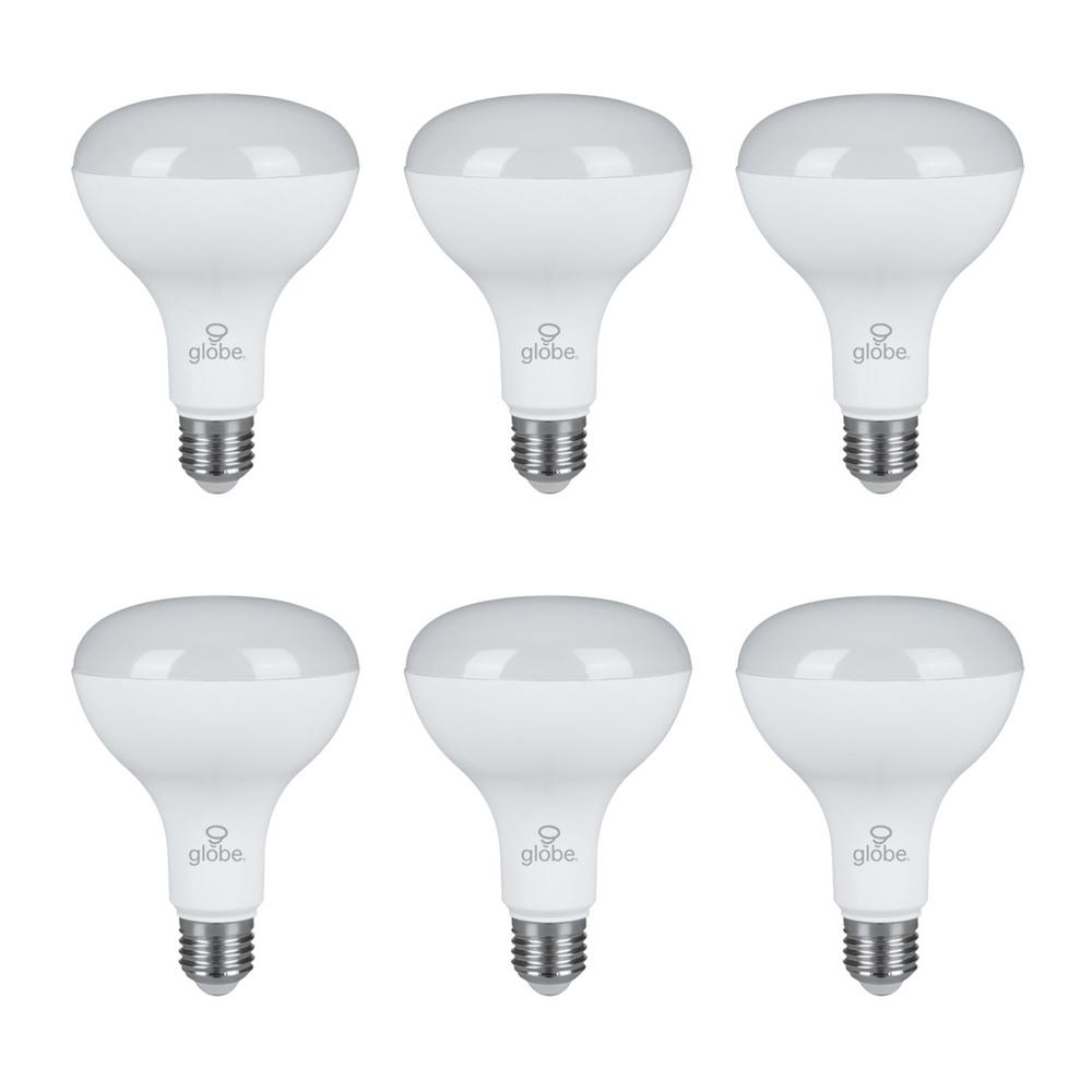 65W Equivalent Daylight BR30 Dimmable LED Light Bulb 6 Pack