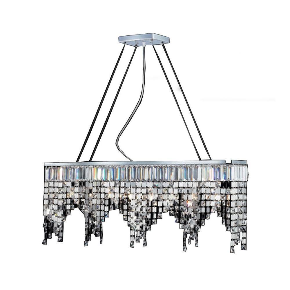 Filament Design Lawrence 8-Light Chrome Halogen Ceiling Chandelier