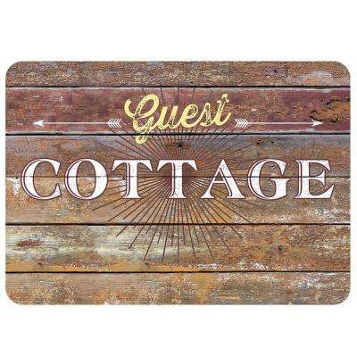 Cottage Rustic Sign Multi 22 in. x 31 in. Premium Comfort Mat