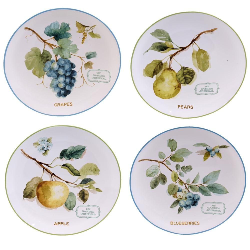 The Greenhouse Collection 9 in. Fruit Dessert and Salad Plate (Set