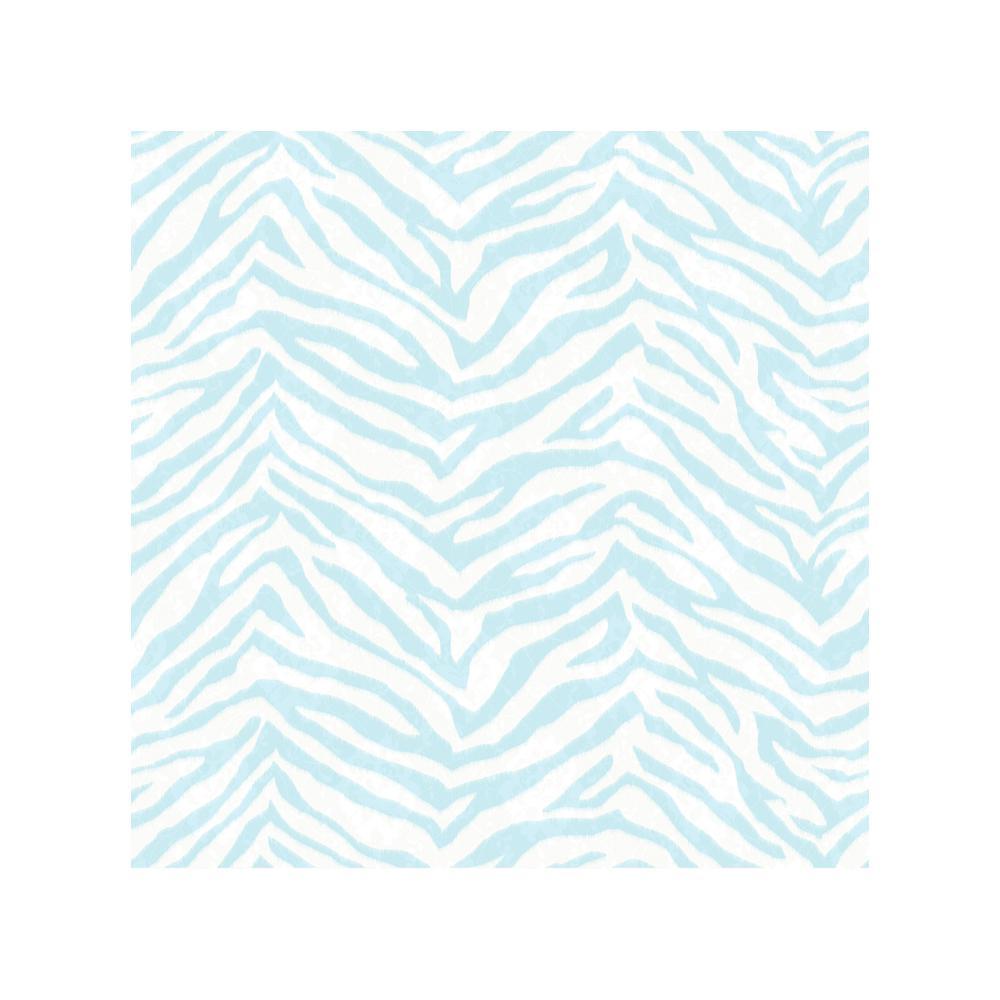Mia Aqua Faux Zebra Stripes Wallpaper Sample