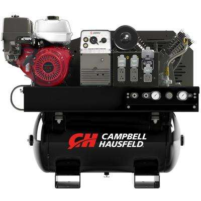 Compressor/Generator/Welder Combination Unit 30 Gal. Stationary Gas Compressor 5000-Watt Generator 180A Welder (GR3200)