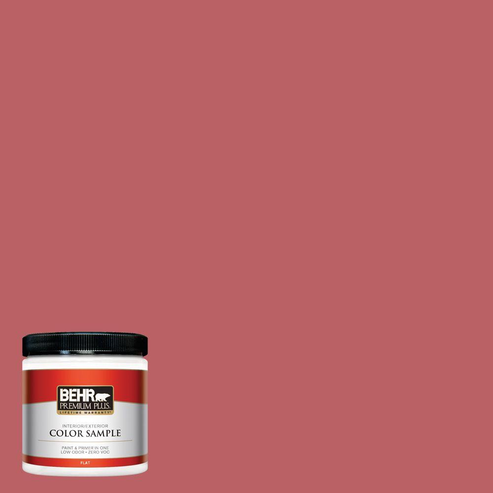 BEHR Premium Plus 8 oz. #150D-6 Strawberry Rhubarb Flat Interior ...