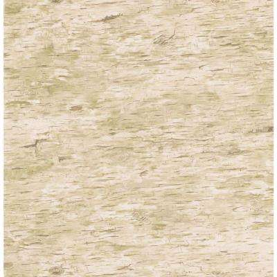 Northwoods Lodge Light Tan Birchbark Wallpaper Sample