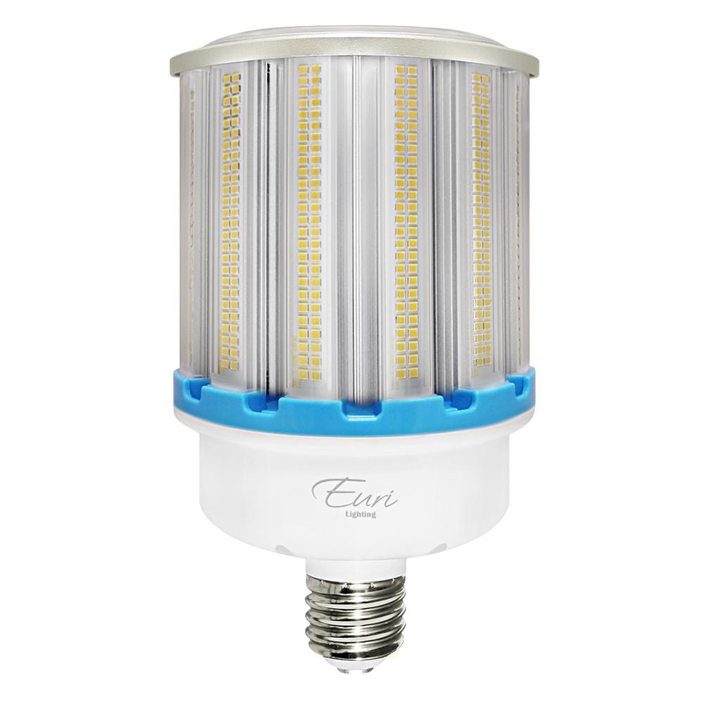 euri lighting corn bulb 400 watt white integrated led high bay ecb100w 1150 the home depot. Black Bedroom Furniture Sets. Home Design Ideas