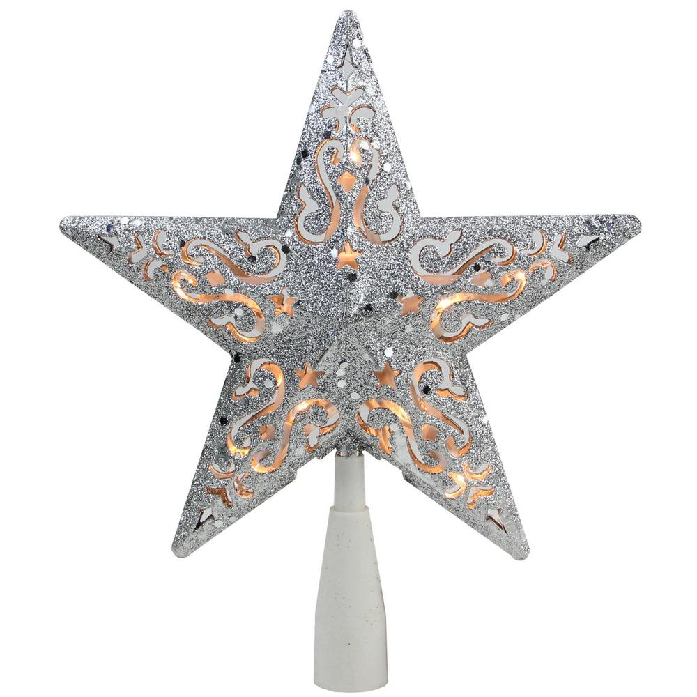 Northlight 8.5 in. Silver Glitter Star Cut-Out Design ...