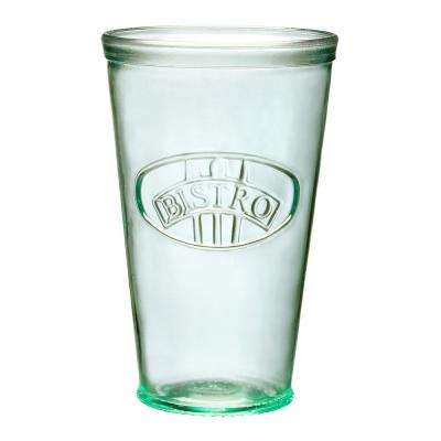 Bistro 6-Piece Clear Green Glass Hiball Drinkware Set with Embossed Emblem
