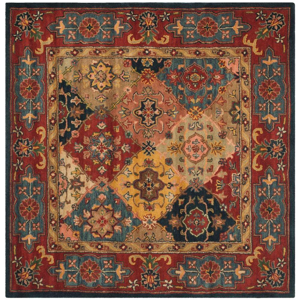Reviews For Safavieh Heritage Red Multi 8 Ft X 8 Ft Square Area Rug Hg926a 8sq The Home Depot