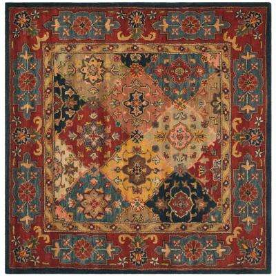 Heritage Red/Multi 8 ft. x 8 ft. Square Area Rug