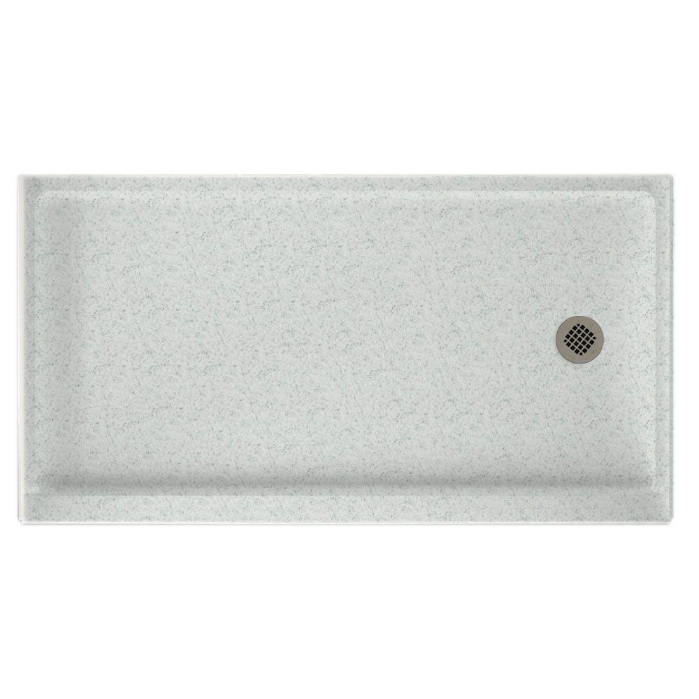 Swanstone 32 in. x 60 in. Single Threshold Retrofit Shower Floor in Tahiti Gray-DISCONTINUED