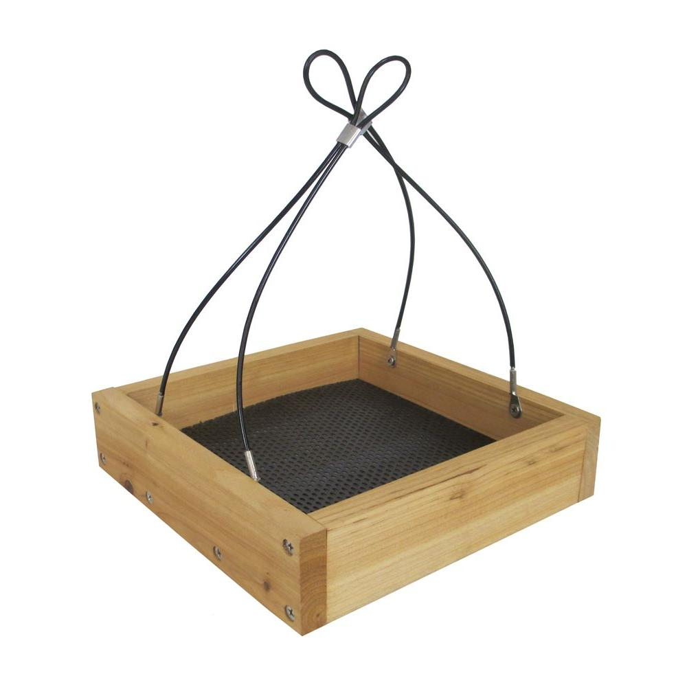 Cedar Tray Wild Bird Feeder Fresh Seed Tray