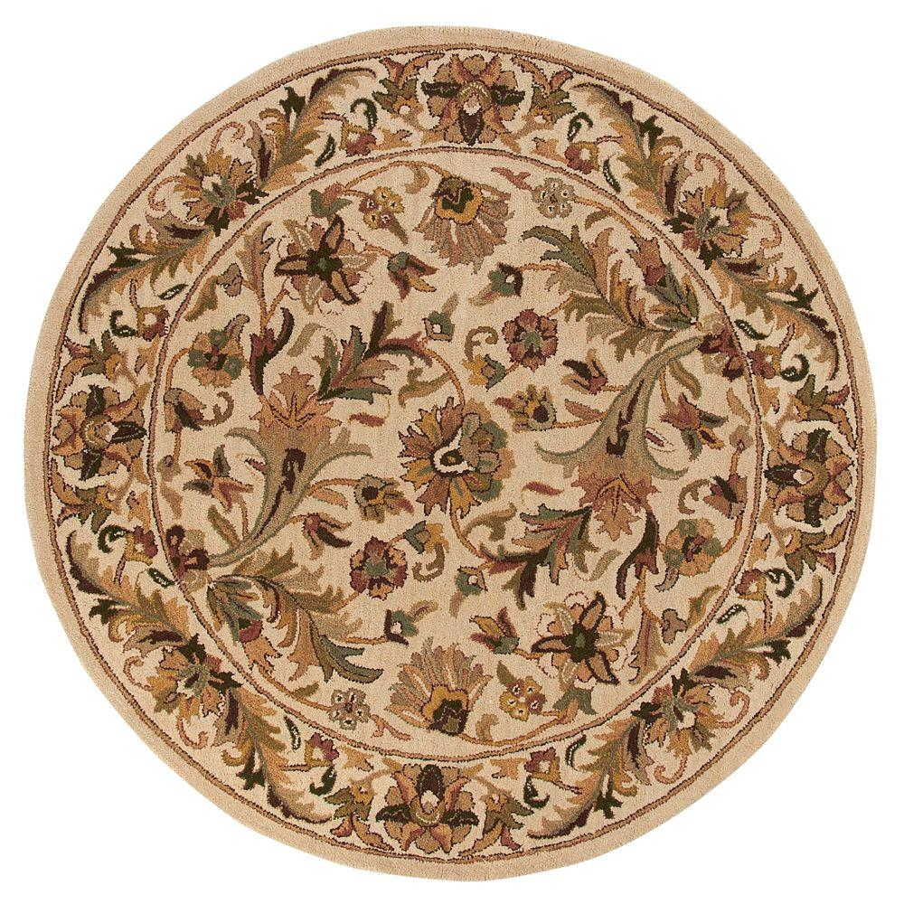 Home Decorators Collection Dudley Beige 3 ft. 9 in. Round Area Rug
