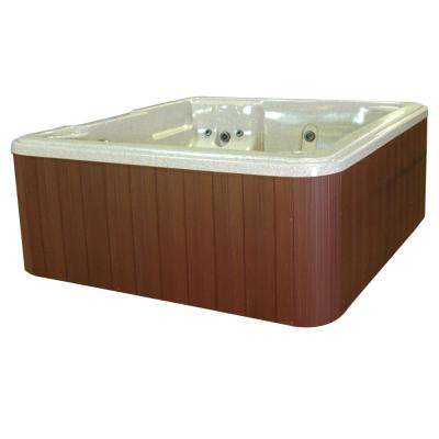 Barcelona 5-Person Plug and Play 30-Jet Spa with Ozonator LED Light Polar Insulation and Hard Cover