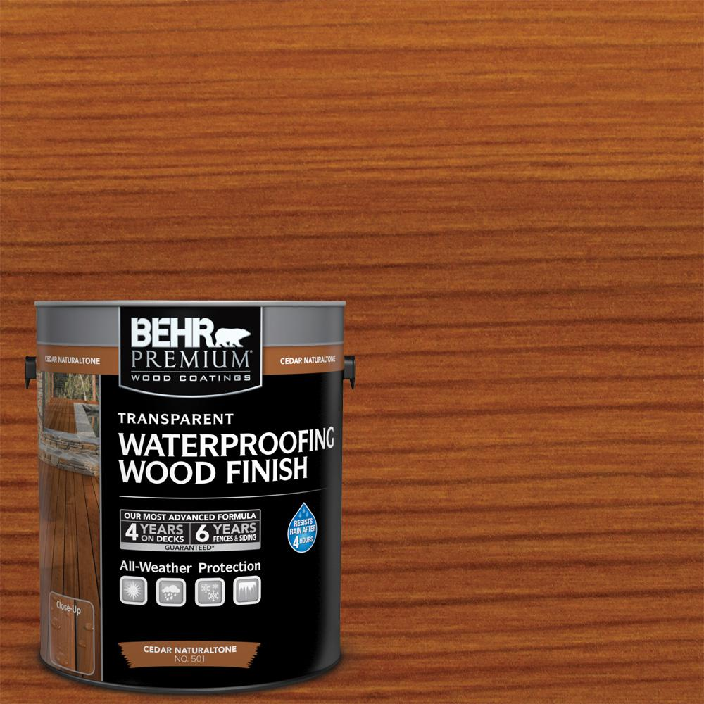 BEHR Premium 1 gal. Cedar Naturaltone Transparent Waterproofing Wood Finish