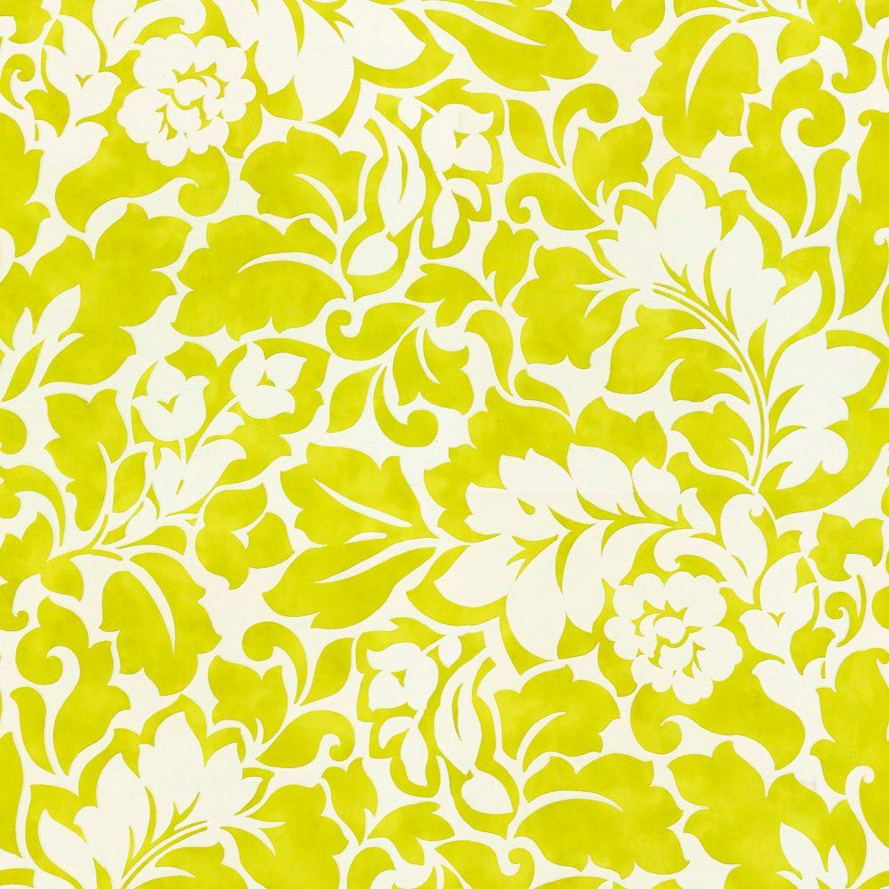 The Wallpaper Company 8 in. x 10 in. Jade Acanthus Wallpaper Sample