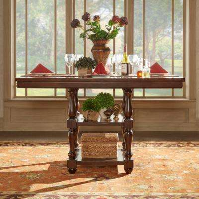 Madison Burnished Dark Oak Counter Height Dining Table