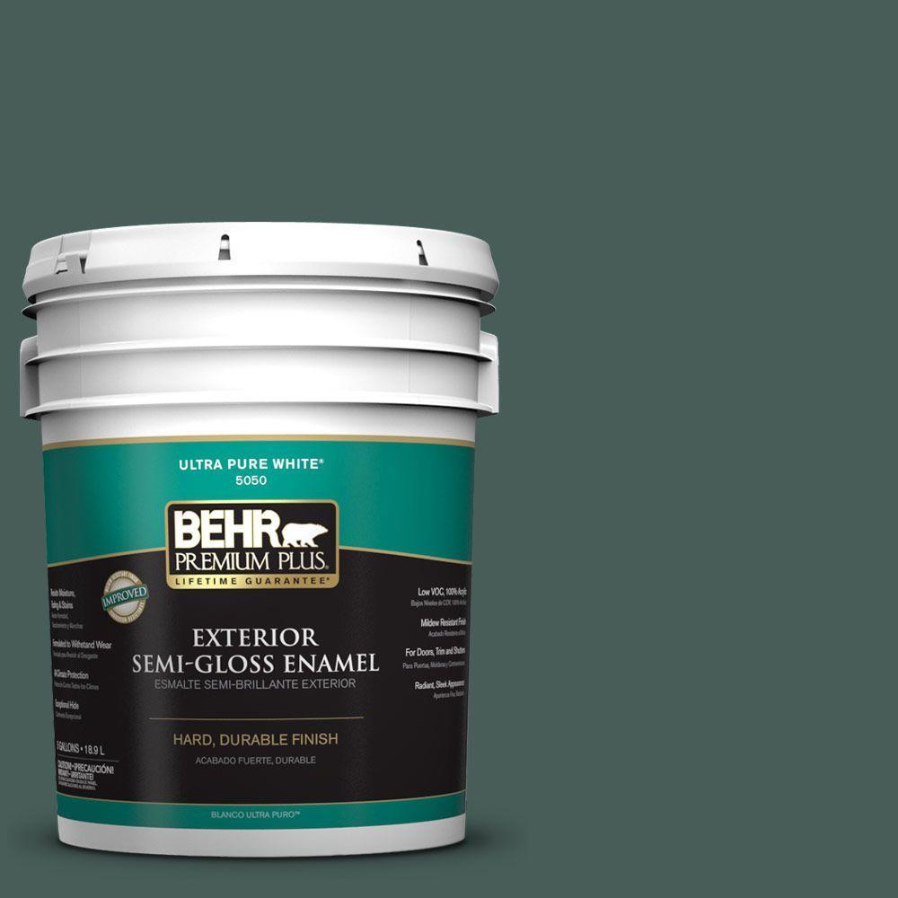 5-gal. #ICC-86 New Hunter Semi-Gloss Enamel Exterior Paint