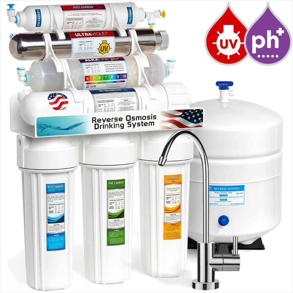 Alkaline UV Under Sink Reverse Osmosis Water Filtration System - 11
