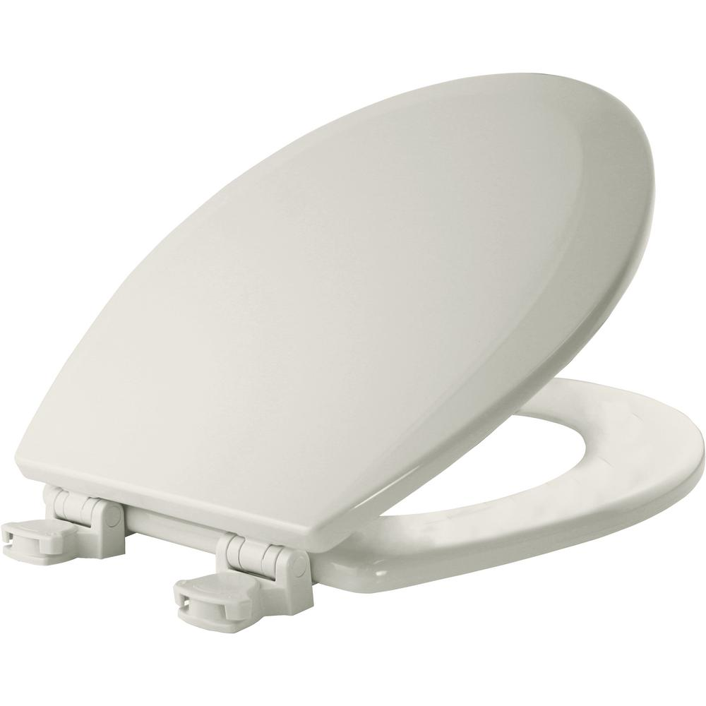 Lift-Off Round Closed Front Toilet Seat in Bone