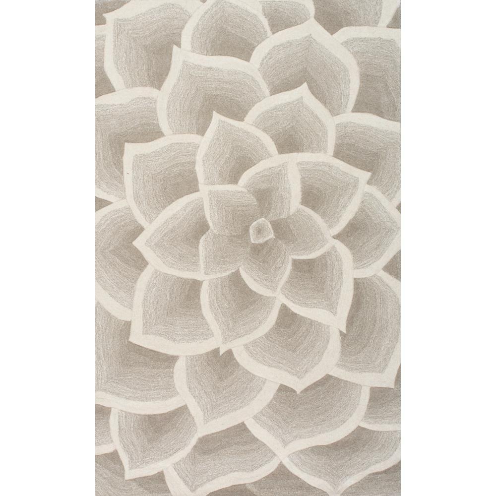 Rose Floral Ivory 8 ft. x 11 ft.  Area Rug