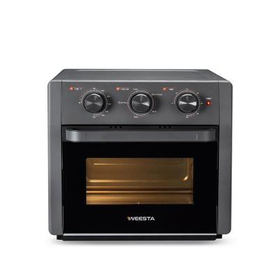 19 qt. Sandy Grey Cold-formed Steel Air Fryer Toaster Oven with Air Fry Air Roast Toast Broil Bake Function