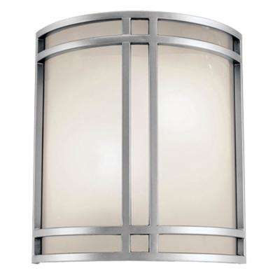 Heritage 10-Watt 2-Light Brushed Nickel Outdoor Wall Mount Sconce