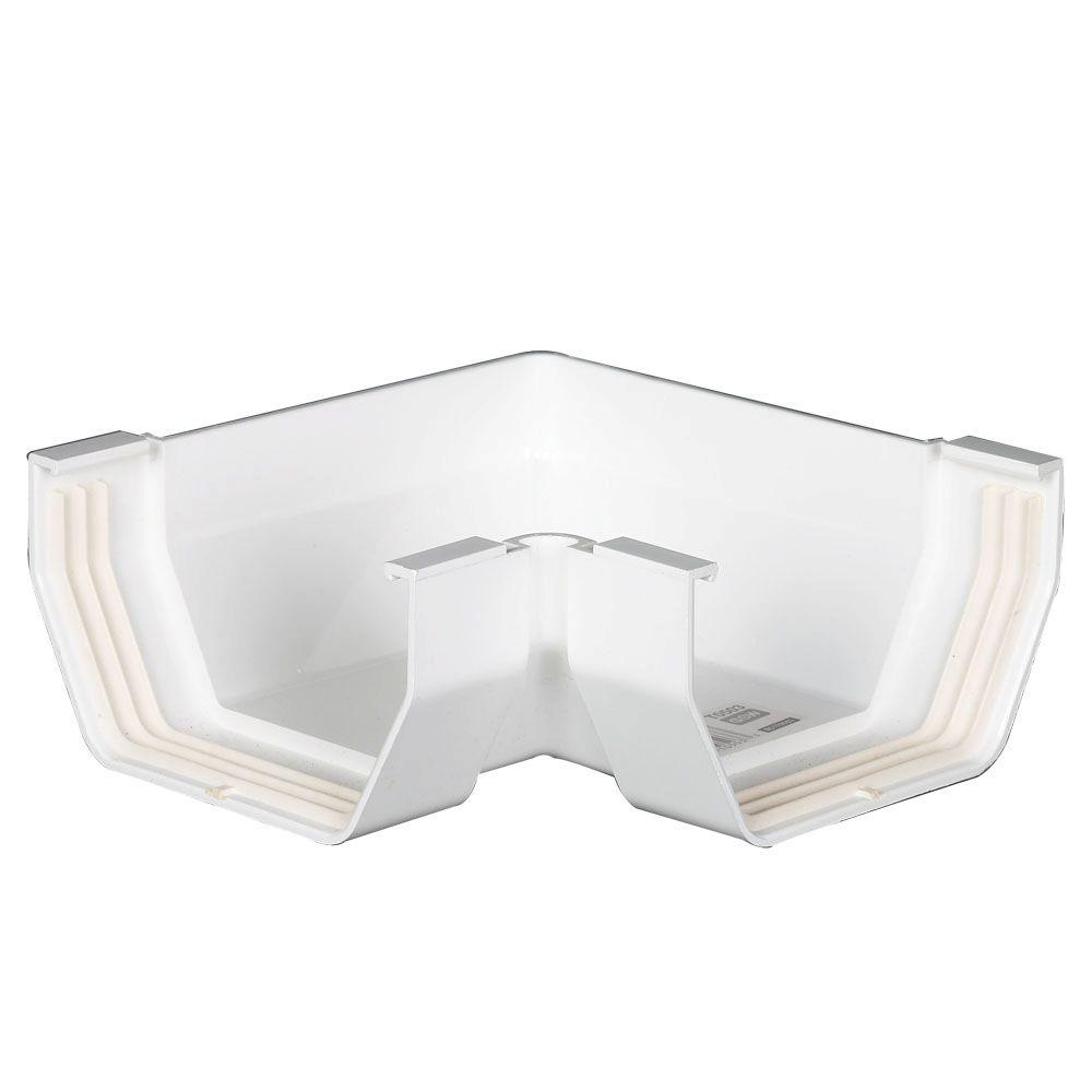 Amerimax Home Products 4 In White Vinyl Mitre Inside Or
