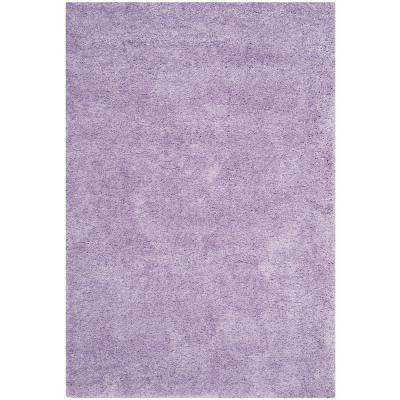 Gentil California Shag Lilac 3 Ft. X 5 Ft. Area Rug