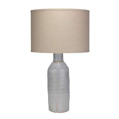 Grey Dimple Carafe Table Lamp With Shade