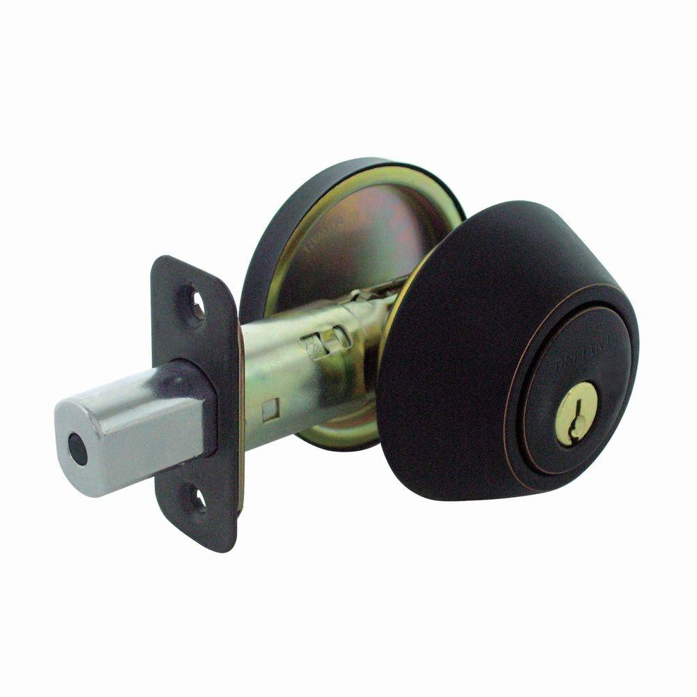 Faultless Single Cylinder Aged Bronze Deadbolt
