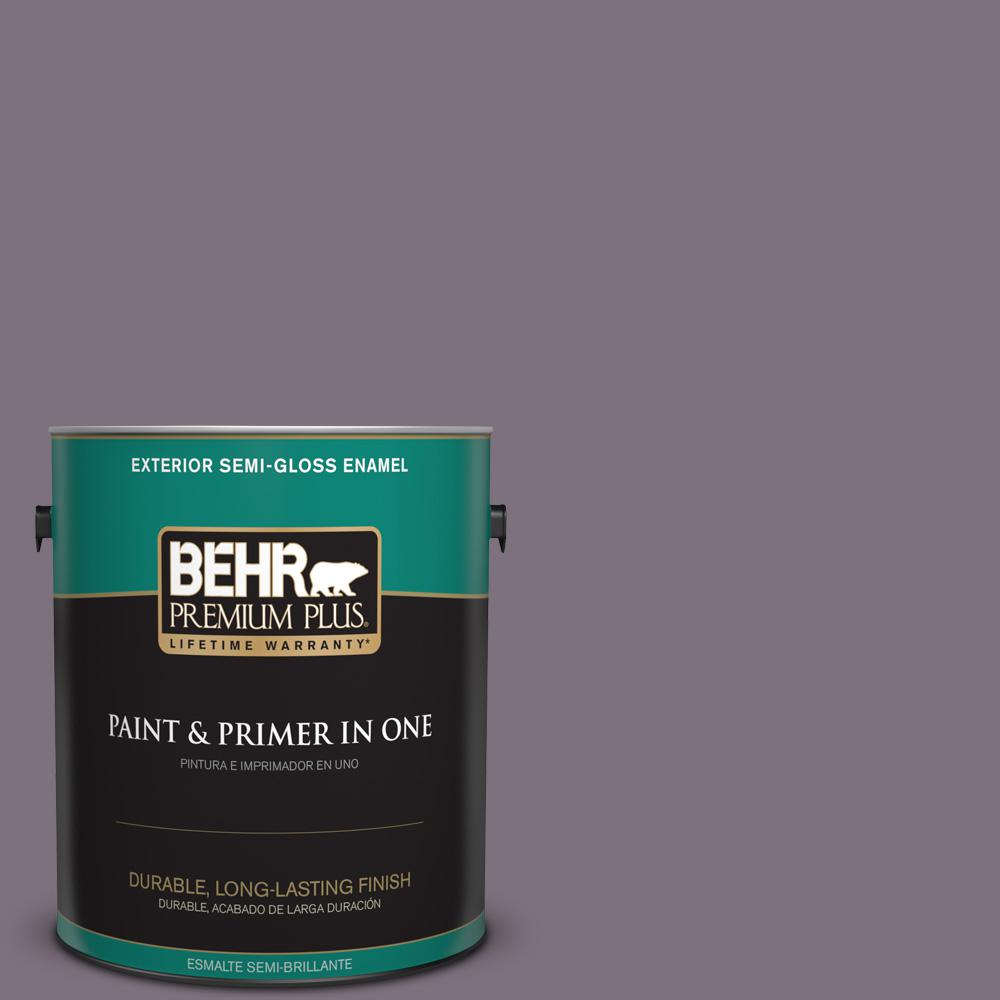 1 gal. #PPU17-17 Plum Shadow Semi-Gloss Enamel Exterior Paint