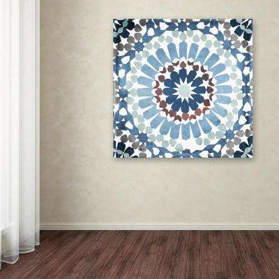 """35 in. x 35 in. """"Moroccan Blues IV"""" by Color Bakery Printed Canvas Wall Art"""