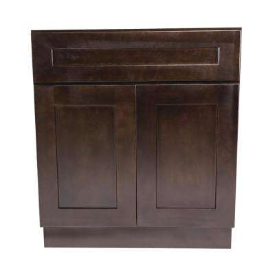 Brookings Fully Assembled 27x34.5x24 in. Kitchen Base Cabinet in Espresso
