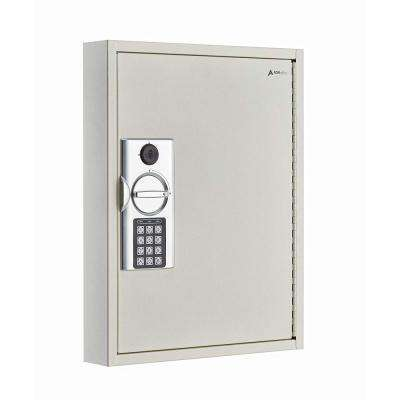 60-Key Steel Heavy-Duty Digital Lock Key Cabinet, White