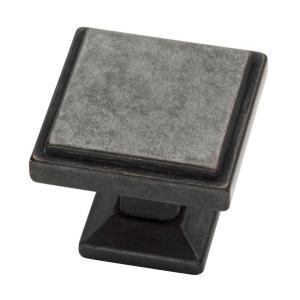 Classic Square 1-1/9 in. (28 mm) Soft Iron Cabinet Knob
