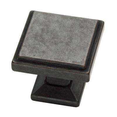 Classic Square 1-1/9 in. (28mm) Soft Iron Cabinet Knob