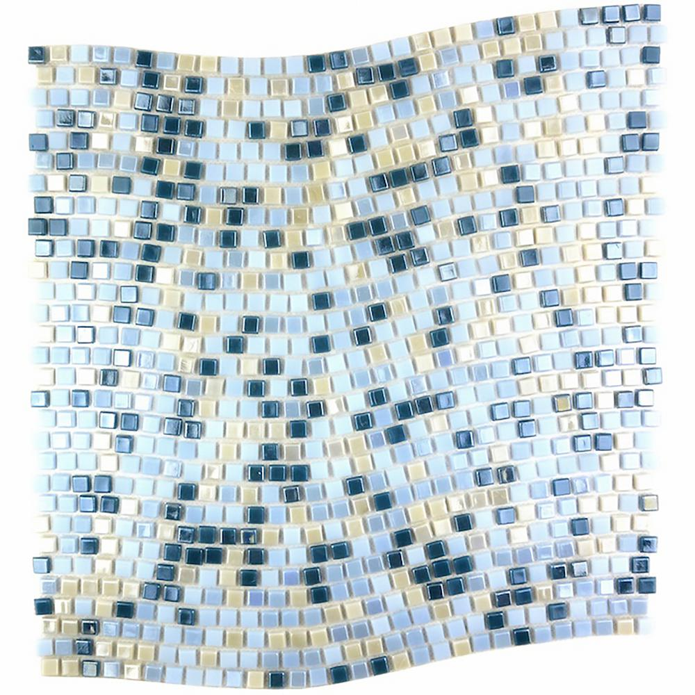Constellation Wavy Blue Mix 11.7 in. x 11.7 in. x 3.20
